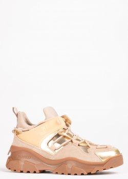 Кроссовки Pinko золотистого цвета, фото