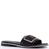 Черные шлепанцы Repo с квадратными носками, фото
