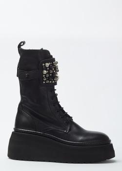 Черные ботинки Fru.It с декором-камнями, фото