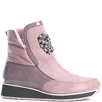 Замшевые ботинки Marzetti с декором-сердцем, фото