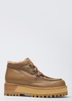Кожаные ботинки Le Silla с мехом внутри, фото