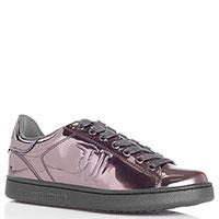 Лаковые кеды Trussardi Jeans цвета бронзы, фото