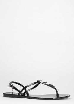 Лаковые сандалии Karl Lagerfeld с декором, фото