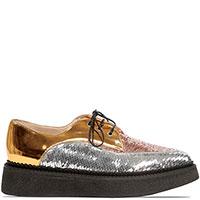 Золотистые туфли N21 с декором-пайетками, фото