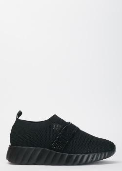 Черные кроссовки Baldinini без шнуровки, фото