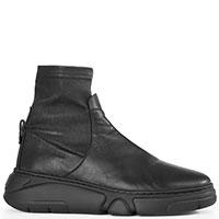 Черные ботинки AGL с текстильным чулком, фото