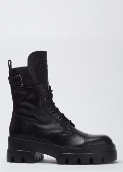 Кожаные ботинки Hestia Venezia черного цвета, фото