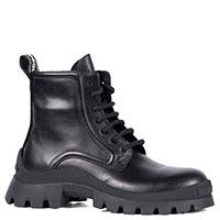 Черные ботинки Dsquared2 на массивной подошве, фото