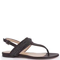 Женские сандалии Fabiana Filippi из коричневой кожи, фото
