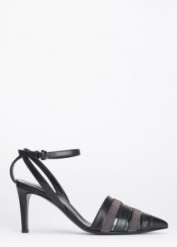 Черные босоножки Fabiana Filippi с острым носком, фото