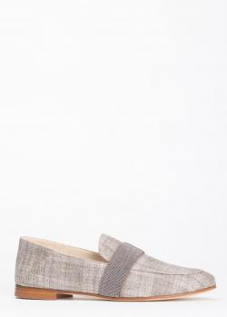 Льняные лоферы Fabiana Filippi Ilaria в клетку, фото