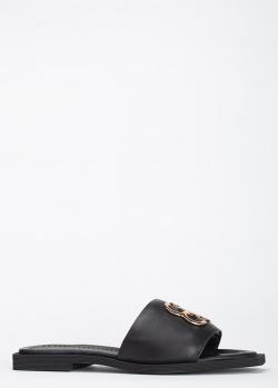 Шлепанцы из кожи Angelo Bervicato черного цвета, фото