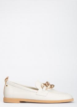 Женские лоферы Angelo Bervicato из белой кожи, фото