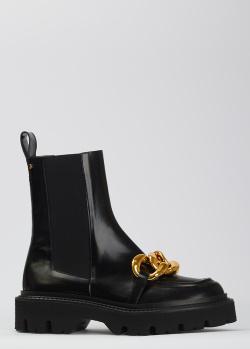 Черные ботинки Angelo Bervicato с декором-цепью, фото