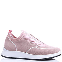 Бежевые кроссовки Liu Jo из текстиля, фото