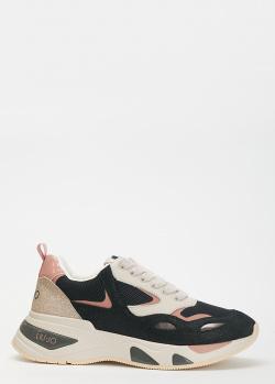 Комбинированные кроссовки Liu Jo Hoa на толстой подошве, фото