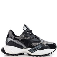 Черные кроссовки Blumarine на толстой подошве, фото
