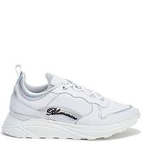 Белые кроссовки Blumarine на толстой подошве, фото