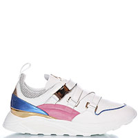 Белые кроссовки Blumarine с ремешками, фото