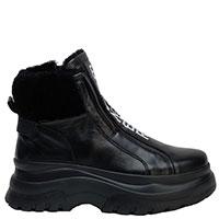 Ботинки Bogner из черной кожи с утеплителем, фото
