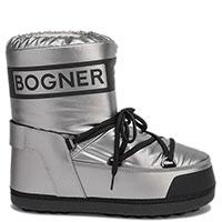 Серебристые луноходы Bogner с фирменной надписью, фото
