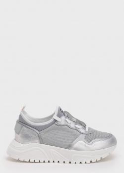 Серебристые кроссовки Bogner с брендовой надписью, фото