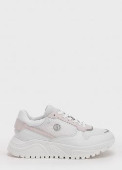 Белые кроссовки Bogner с текстильными вставками, фото