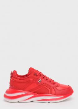 Красные кроссовки Bogner на массивной подошве, фото