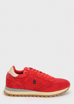 Замшевые кроссовки Bogner красного цвета, фото
