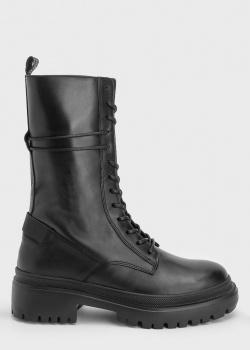 Высокие ботинки Bogner из гладкой кожи, фото