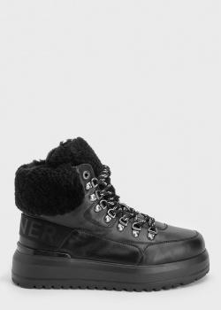 Черные ботинки Bogner на толстой подошве, фото