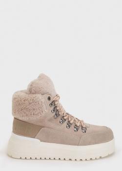 Бежевые ботинки Bogner на меху, фото