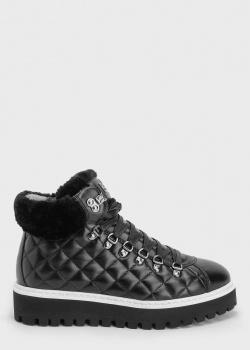 Ботинки из кожи Bogner черного цвета, фото