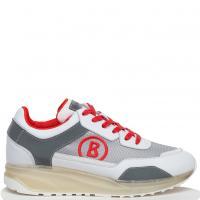 Массивные кроссовки Bogner белые с серым, фото