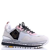Кроссовки Liu Jo бело-розовые, фото