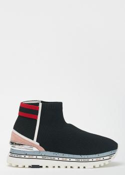 Высокие черные кроссовки Liu Jo Maxi Alexa, фото