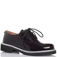 Туфли из полированной кожи черного цвета Twin-Set с серебристой полосой вдоль подошвы, фото