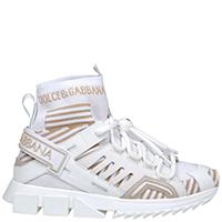 Белые кроссовки Dolce&Gabbana с декором логотипом, фото