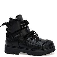 Черные зимние ботинки Dsquared2 с липучкой, фото