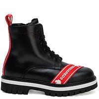 Черные ботинки Dsquared2 с брендовой полоской, фото