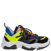 Черные кроссовки Dsquared2 с яркими вставками, фото