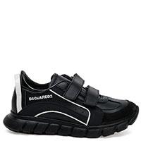 Черные кроссовки Dsquared2 на двух липучках, фото