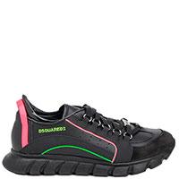 Черные кроссовки Dsquared2 с цветными полосками, фото