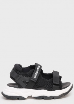 Черные сандалии Dsquared2 на белой подошве, фото