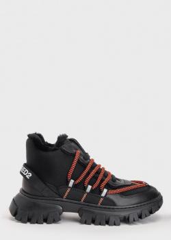 Зимние кроссовки Dsquared2 с контрастными шнурками, фото