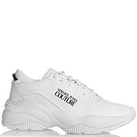 Белые кроссовки Versace Jeans Couture на толстой подошве, фото