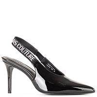 Туфли-слингбеки Versace Jeans Couture в черном цвете, фото