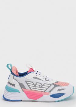 Женские массивные кроссовки EA7 Emporio Armani с цветными вставками, фото