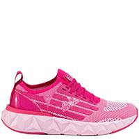 Розовые кроссовки Ea7 Emporio Armani на рельефной подошве, фото