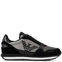 Черные кроссовки Emporio Armani с блестками, фото